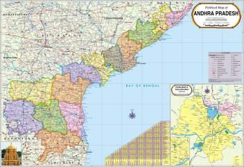 Andhra Pradesh Map : Political Paper Print on map of dadra and nagar haveli, map of india, map of mirzapur, map of union territories, map of ebonyi, map of silvassa, uttar pradesh, west bengal, map of mumbai, himachal pradesh, map of rajgangpur, map of panjshir, map of telangana, map of jharkhand, map of mundra, tamil nadu, map andhra pradesh with telangana, map of telugu, map of tamil nadu, map of tuljapur, jammu and kashmir, map of hadramaut, map of delhi, arunachal pradesh, map of digha, states of india, map of sikkim,