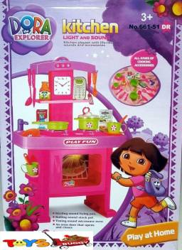 Toysbuggy Dora The Explorer Kitchen Set With Light Sound Dora The Explorer Kitchen Set With Light Sound Buy Dora Toys In India Shop For Toysbuggy Products In India