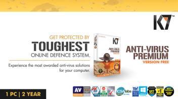 K7 Anti-Virus Premium 1 PC 2 Year (Activation card)