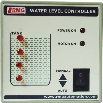 Rmg Automatic Water Level Controller With Indicator For Motor Pump Operated By Switch Mcb Upto 1 5 Hp Tank Only Wired Sensor Security System