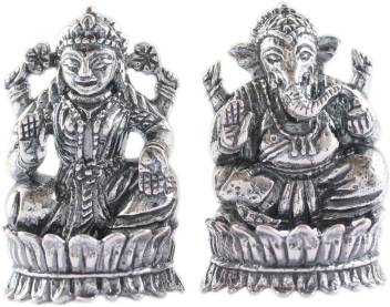 925 Silver Light Weight Silver Goddess Lakshmi And God Ganesha