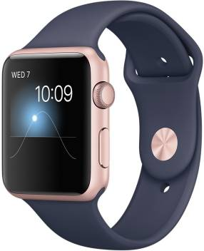 Apple Watch Series 2 42 Mm Rose Gold Case With Midnight Blue Sports Band Price In India Buy Apple Watch Series 2 42 Mm Rose Gold Case With Midnight