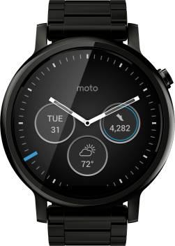size 40 53697 ea5db Motorola Moto 360 2nd Gen (46 mm) for Men Black Metal Smartwatch