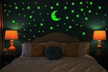 Glow In The Dark Stars With Moon Radium