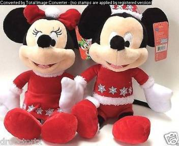 Minnie Mouse Christmas Dress.Disney Mickey And Minnie Mouse In Christmas Dress 8 Inch