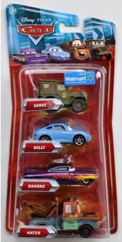 Disney Pixar Cars Movie Exclusive 155 Die Cast 4pack Sarge Ramone