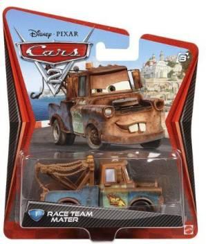 Mattel Disney Pixar Cars 2 Movie 155 Die Cast Car Race Team Mater