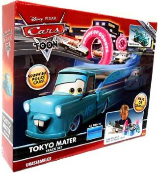 Disney Pixar Cars Toon Playset Tokyo Mater Track Set Pixar Cars Toon Playset Tokyo Mater Track Set Buy Tokyo Mater Toys In India Shop For Disney Products In India Flipkart Com
