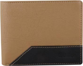 Men Beige, Black Artificial Leather Wallet