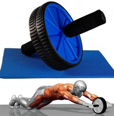 Evana Unique Abs Roller Wheel Abdominal Workout Ab Exerciser(Multicolor)  available at flipkart for Rs.297