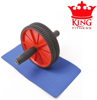 KING FITNESS PERFECT AB ROLLER WITH MAT Ab Exerciser(Multicolor)  available at flipkart for Rs.299