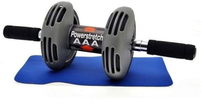 Everything Imported Roller Wheel Machine Carver Workout Routine Abdominal Stretch Maximizer Core Fitness Strength Ab Exerciser(Silver, Black)
