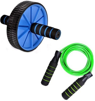 Skyfitness skipping rope with ab wheel roller Ab Exerciser(Multicolor)