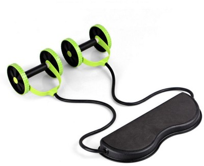 IBS Revoflex Xtreme Resistance Extreme Slimming Strecher Workout Rubber Bands Power Strech Roller Wheel Ab Exerciser(Black, Green)