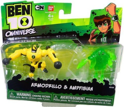 Ben 10 ultimate alien mini armodrillo/ampfibian(Multicolor)