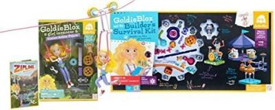 Goldie Blox Zipline Adventure And Builder'S Survival Kit(Multicolor)