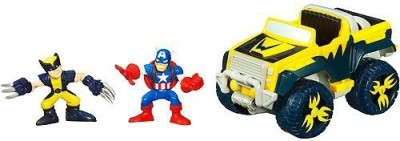 Hasbro Marvel Super Hero Squad Off-Road Avenger With Wolverine And Captain America Figures(Multicolor) at flipkart
