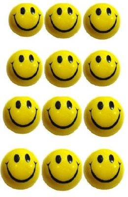 VRV Yellow Smiley Face Squeeze Ball   Set Of 12 Yellow VRV Action Figures