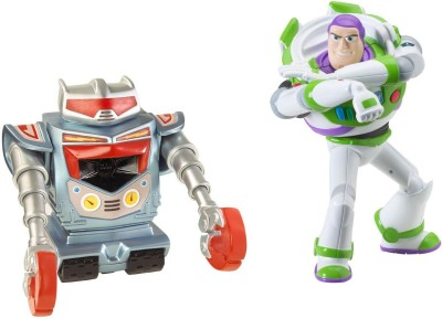 Mattel Toy Story 3 Laser Action Buzz Lightyear And Seek N Destroy Robot Feature Figure 2-Pack(Multicolor)  available at flipkart for Rs.2192