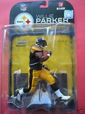 Willie Parker Pittsburgh Steelers White Wrist Tape McFarlane NFL Action Figure by Unknown