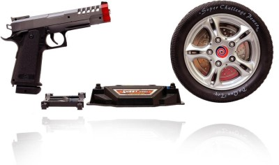 Planet of Toys Turntable Shoot Game with Infrared Gun(Black)  available at flipkart for Rs.569