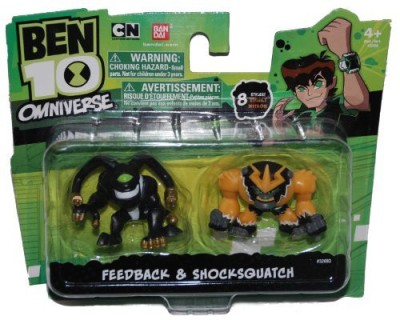 Ben 10 Omniverse 2 Inch Mini 2Pack Feedback & Shocksquatch(Multicolor)
