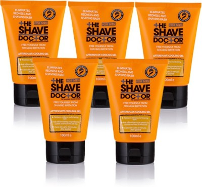 The Shave Doctor Aftershave Cooling Gel - Packs of 5(500 ml)
