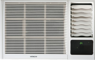 View Hitachi 1 Ton 3 Star BEE Rating 2017 Window AC  - White(RAW312KXDAI, Copper Condenser)  Price Online