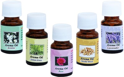 Craft Junction Rose, Jasmine, Lavender, Lemon Grass, Sandal Wood Aroma Oil(10 ml) at flipkart