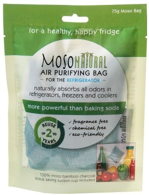 Moso Natural Moso Natural Air Purifying Bag, Keeps Your Refrigerator, Freezer and Cooler; Fresh, Dry and Odor Free For Up To Two Years. 75gm Portable Room Air Purifier(Blue) at flipkart