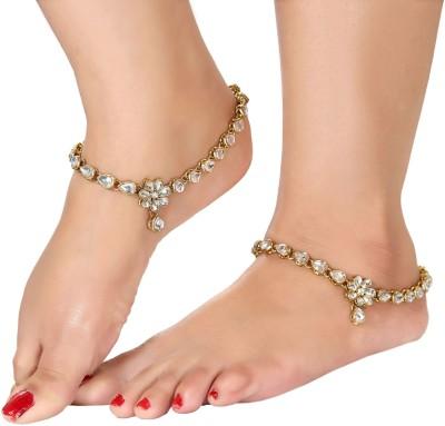 Shining Diva Kundan Alloy Anklet(Pack of 2) at flipkart