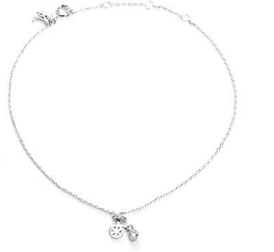 Blinglane Lucky Cycle Charm Silver Plated Copper Anklet at flipkart