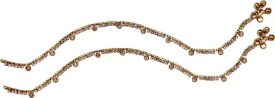 Jewbang Madras Chennai Coimbattore Style Alloy Anklet(Pack of 2) at flipkart