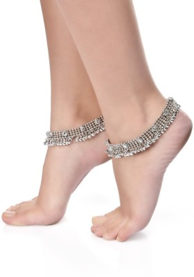 Shining Diva Antique Look Kundan Alloy Anklet(Pack of 2) at flipkart