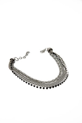 Galz4ever Designer Multi Chain Anklet Alloy Anklet