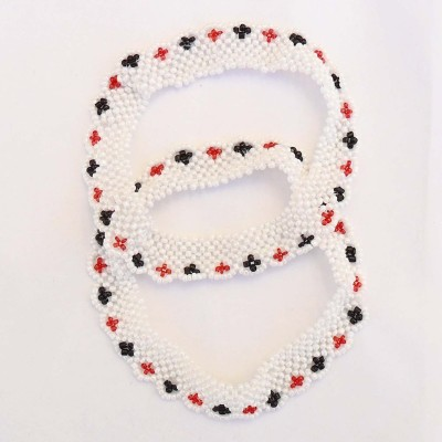 Beadworks Beaded Handmade Glass Anklet(Pack of 2) at flipkart