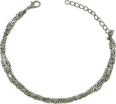 18 Fashion Street Beautiful Silver Designer Charm Alloy Anklet at flipkart