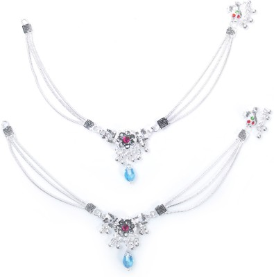 Charms Diva Precious Alloy Anklet(Pack of 2) at flipkart