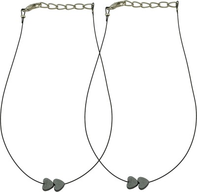 High Trendz Elegant Black Hearts Payal For Women And Girls Alloy Anklet(Pack of 2) at flipkart