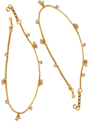 Payal Designs Alloy Anklet(Pack of 2) at flipkart