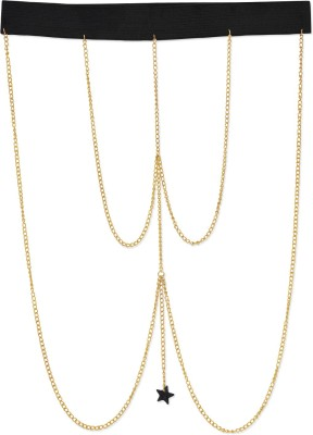 Fayon Golden Chain With Black Star Alloy Anklet at flipkart
