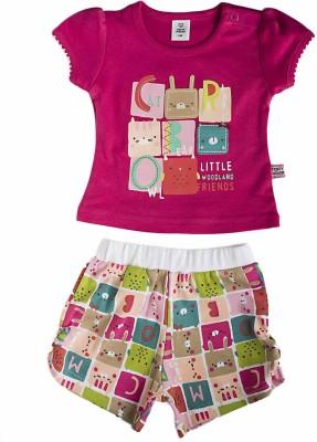 Toffyhouse Girls T-shirt Shorts(Pink)