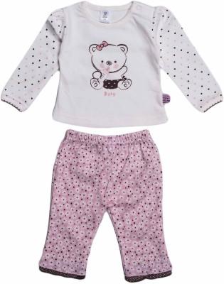 Toffyhouse Girls T-shirt Trouser(Pink)