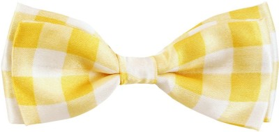 Blacksmith Yellow Checksdesign Bow Checkered Men Tie
