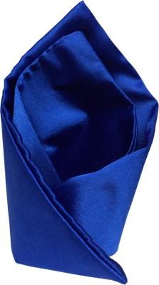 Vibhavari Blue Solid Microfibre Pocket Square