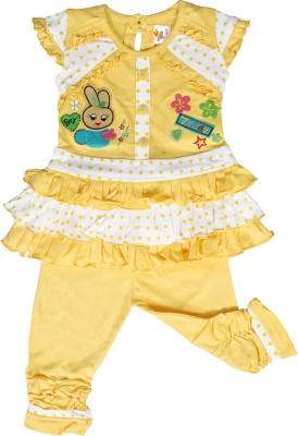 Kool Kids Girls Party(Festive) Dress Jegging(Yellow)