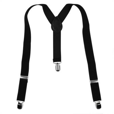Fashion Circuit Y  Back Suspenders for Men Black