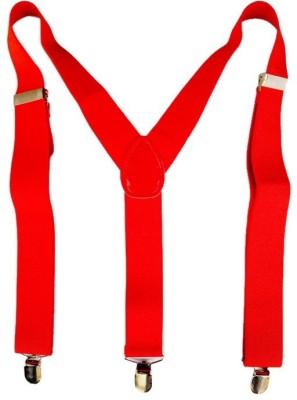 loopa Y  Back Suspenders for Men Red