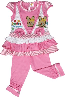 Kool Kids Girls Party(Festive) Dress Jegging(Pink)