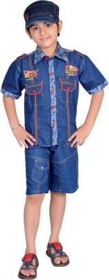 Kabeer Boys Casual T-shirt(Blue)